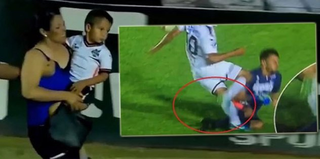 Ayağı kırılan futbolcunun Annesi sahaya daldı!   İZLEYİN