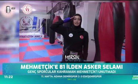 Sporculardan kahraman Mehmetçik'e 81 ilden asker selamı