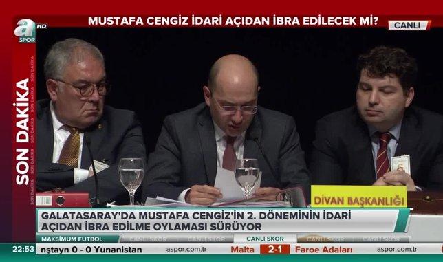 Mustafa Cengiz idari açıdan ibra edilmedi