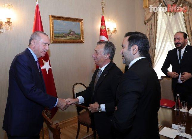 Beşiktaş Başkanı Ahmet Nur Çebi'den Başkan Recep Tayyip Erdoğan'a ziyaret