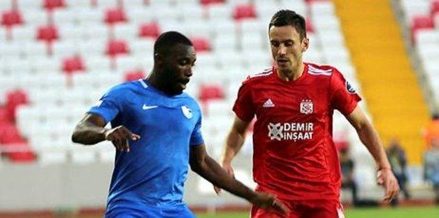 Demir Grup Sivasspor evinde BB Erzurumspor'la 2-2 berabere kaldı