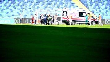 Adanaspor Giresunspor maçında Karacic hastaneye kaldırıldı!