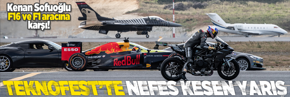 Teknofest'te büyük yarış! Kenan Sofuoğlu SOLOTÜRK'e karşı