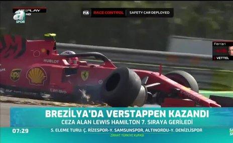 Brezilya'da Verstappen kazandı