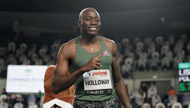 Grant Holloway 60 metre engellide 27 yıllık dünya rekorunu kırdı
