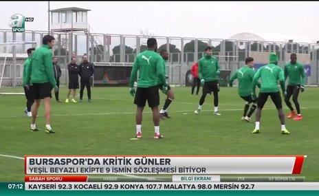 Bursaspor'da kritik günler