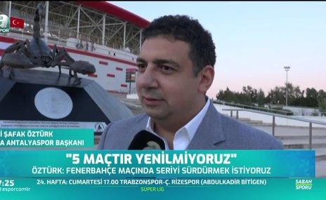 Ali Şafak Öztürk: 5 maçtır yenilmiyoruz
