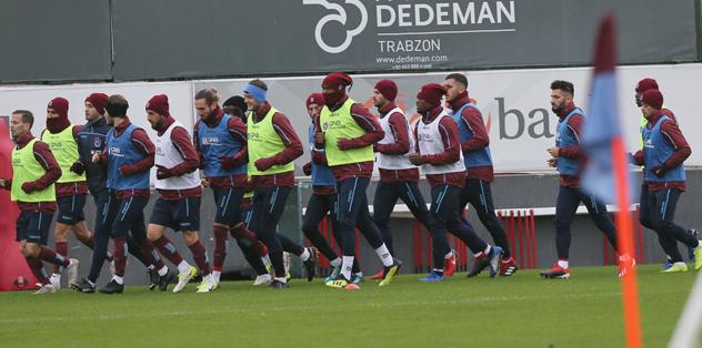 Trabzonspor Beşiktaş maçı hazırlıklarını sürdürdü