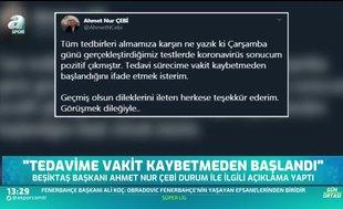 Ahmet Nur Çebi'den teşekkür!
