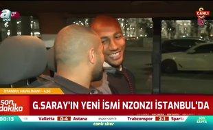 Galatasaray'ın yeni transferi Steven Nzonzi İstanbul'a geldi