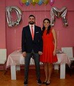 Kaleci Muammer basketbolcu Dila ile nişanlandı