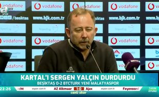 Sergen Yalçın: Şans bulduk ve gol atarak maçı kazandık