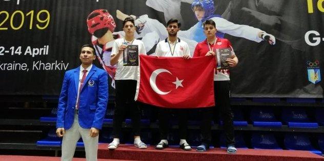Ukrayna'da şampiyon Melih Yılmaz!