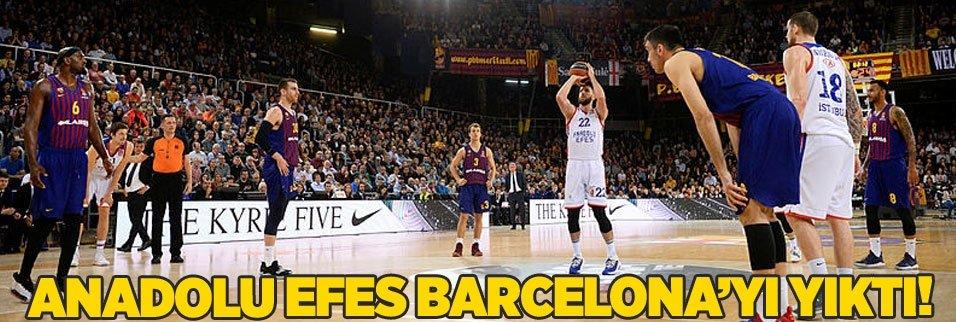 Anadolu Efes Barcelona'yı dağıttı!