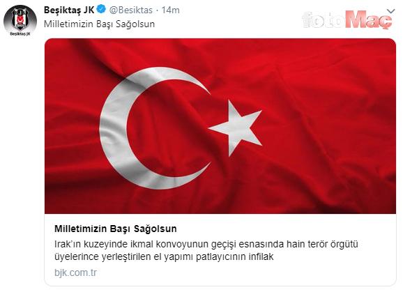 Süper Lig kulüpleri şehitlerimizi unutmadı!