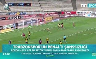 Trabzonspor'un penaltı şanssızlığı