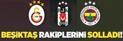 Beşiktaş F.Bahçe ve G.Saray'ı solladı!