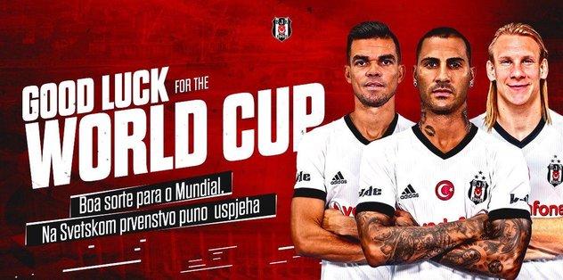 Beşiktaş'tan Dünya Kupası için 3 yıldızına başarı mesajı!