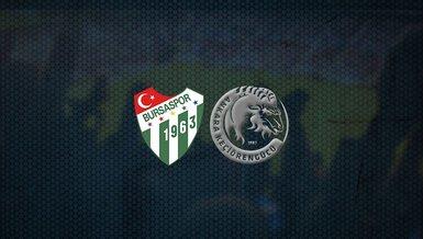 Bursaspor - Keçiörengücü maçı ne zaman, saat kaçta ve hangi kanalda canlı yayınlanacak? | TFF 1. Lig
