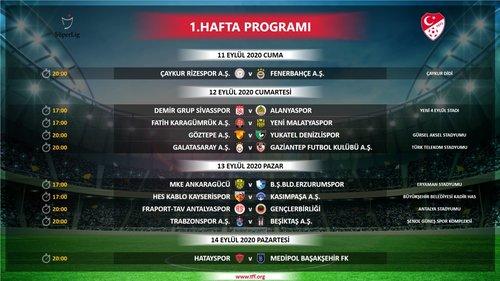 super ligde ilk 4 haftanin programi belli oldu iste saat ve tarihler 1598895427649 - Süper Lig'de ilk 4 haftanın programı belli oldu! İşte saat ve tarihler