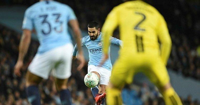 Manchester City'den Burton Albion'a gol yağmuru! İlkay Gündoğan maça damga vurdu