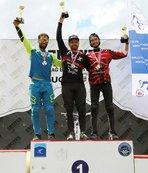 Erciyes'te Uluslararası Downhill Bisikleti Kupası düzenlendi