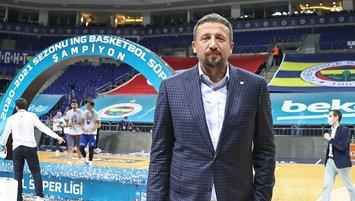 TBF Başkanı Hidayet Türkoğlu A. Efes'i kutladı