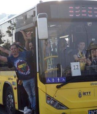 F.Bahçeli taraftarlar, Türk Telekom Stadı'na  geldi