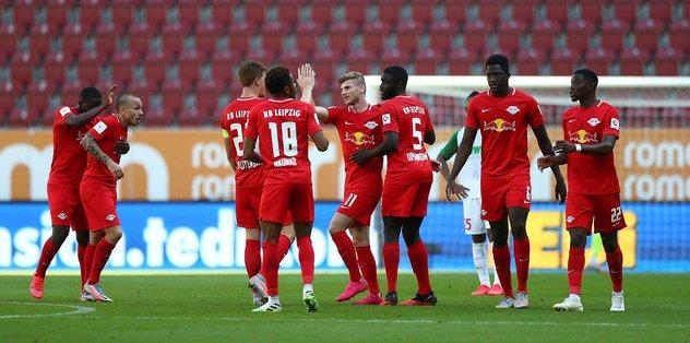 Augsburg 1-2 RB Leipzig | MAÇ SONUCU - Almanya Bundesliga -