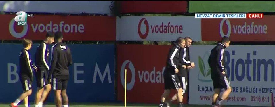 Beşiktaş'ta Trabzonspor mesaisi sürüyor
