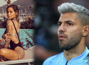 Sergio Aguero'nun yanındaki dövmeli güzel | İşte futbolcuların eşleri ve sevgilileri