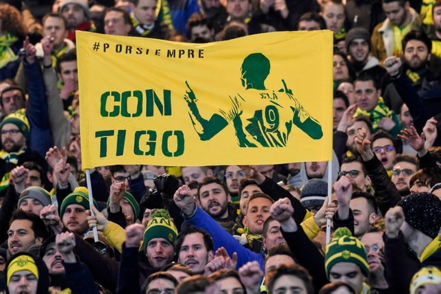 Nantes taraftarı Emiliano Sala'yı unutmadı