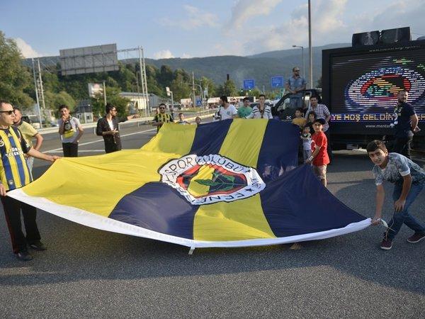 Fenerbahçe'ye Düzce'de coşkulu karşılama