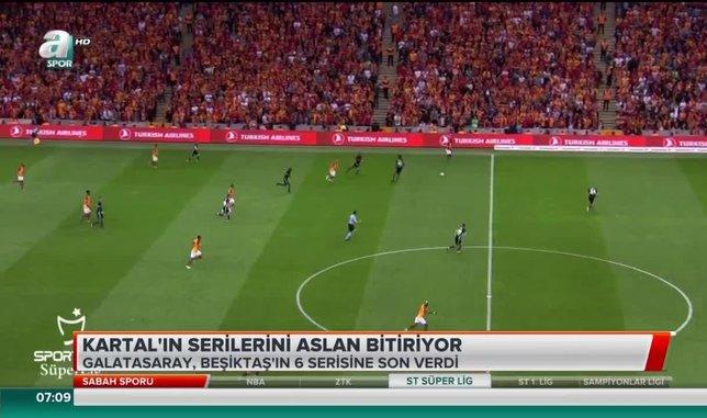 Beşiktaş'ın serilerini Galatasaray bitiriyor