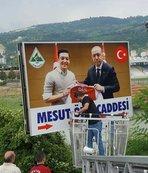 Zonguldak'taki Mesut Özil tabelası değişti