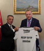 Başkan Erdoğan Ahmet Nur Çebi'yi kabul etti