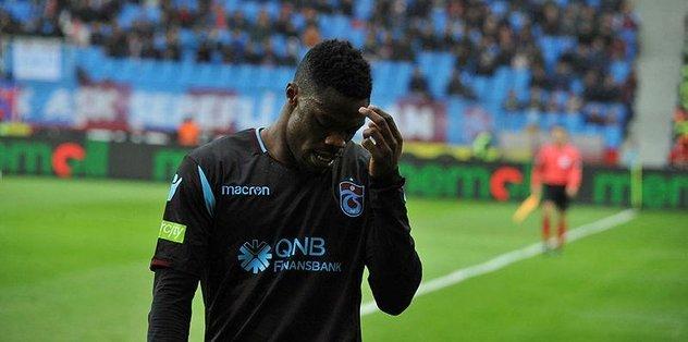 Trabzonspor'da Ekuban'ın direk derdi