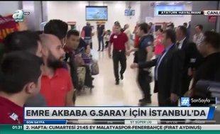 Galatasaray'ın yeni transferi Emre Akbaba İstanbul'da
