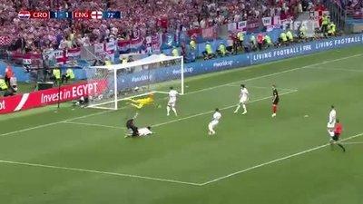 2018 Dünya Kupası yarı finalinde Hırvatistan İngiltere'yi 2-1 mağlup etti ve finale yükseldi (ÖZET İZLE)