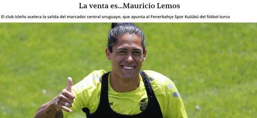 fenerbahce icin surpriz transfer iddiasi mauricio lemos geliyor 1597153756261 - Fenerbahçe için sürpriz transfer iddiası: Mauricio Lemos geliyor!
