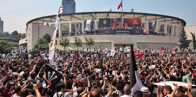 Beşiktaş'ta şampiyonluk kutlaması