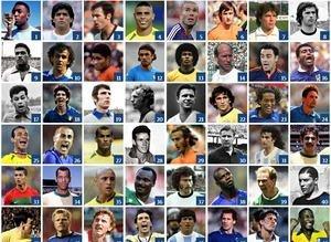 Dünya Kupasının gelmiş geçmiş en iyi 100 futbolcusu