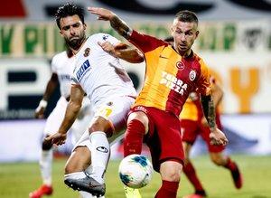 Alanyaspor - Galatasaray maçından kareler...