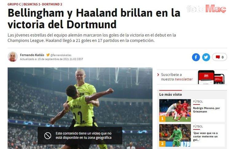 Son dakika spor haberi: Avrupa basını Beşiktaş-Borussia Dortmund maçını böyle gördü!