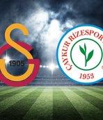 Galatasaray - Çaykur Rizespor maçında 11'ler belli oldu!