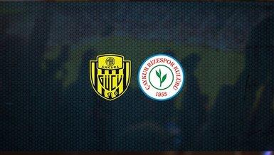 Ankaragücü - Çaykur Rizespor maçı ne zaman, saat kaçta ve hangi kanalda canlı yayınlanacak?   Süper Lig