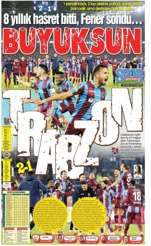 Trabzon yerel basınında derbi çoşkusu