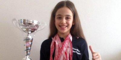 9 yaşındaki Beyza, 13 madalya kazandı