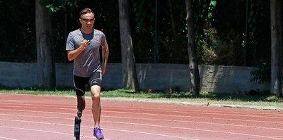 Paralimpik atletin gözü Londra'da