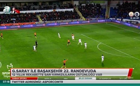 Galatasaray ile Başakşehir 22. randevuda